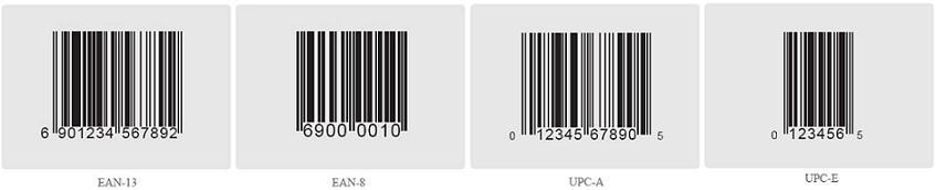 各类型条形码标准