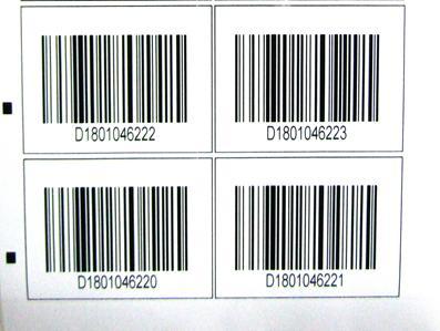 黑色条码标签